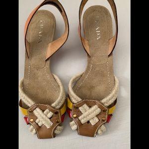 Prada Vintage Slingback Shoes